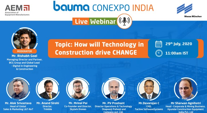 bauma CONEXPO INDIA hosts an engaging webinar focusing the Indian market