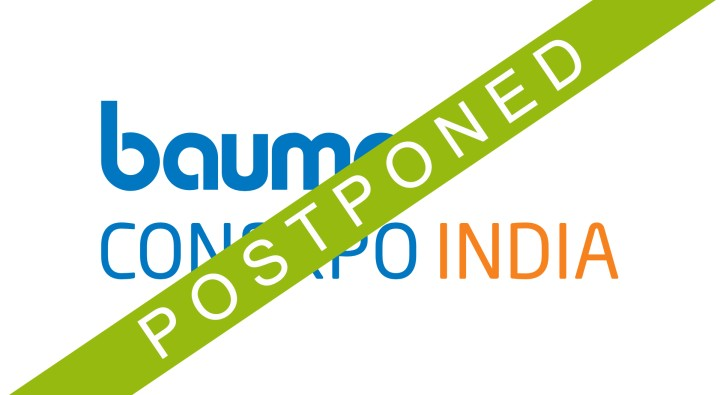 bauma CONEXPO INDIA is postponed to April 2021